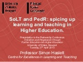 SoLT and PedR: spicing up learning ...