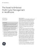 The Need to Embrace Profit Cycle Management in Healthcare - Whitepaper
