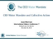 CEO Water Mandate and Collective Ac...