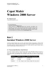Cepat mahir windows 2000 server
