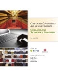 Corporate Governance and Climate Change: Consumer and Technology Companies