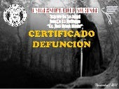 Certificado defuncion