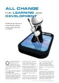 All change for Learning and Development, fluid model of learning, importnace of mobile learning