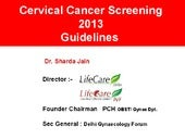 Cervical cancer screening guideline...