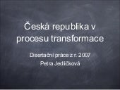 Česká republika v procesu transform...