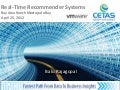 Cetas Presentation on Real-time Recommendation Systems