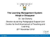 The Learning Management System: Ada...