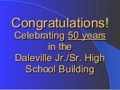 50th Anniv. of Daleville IN HS Buil...