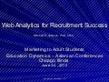 Web Analytics for Recruitment Success