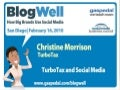 BlogWell San Diego Social Media Case Study: TurboTax, presented by Christine Morrison