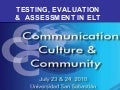 FITZROY KENNEDY, MA -  TESTING & ASSESSMENT IN ELT
