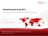 Global Reputation Pulse 2010 - Top ...