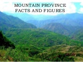 Mountain Province Facts and Figures