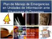 Plan de manejo de emergencias en un...