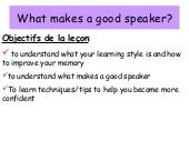 What Makes A Good Speaker
