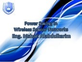 Power Saving in Wireless Sensor Net...