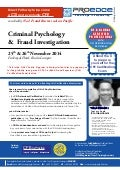 Criminal Psychology & Fraud Investigation