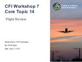 CFI Workshop -  Module 14 The Fligh...