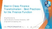 Best in Class Finance Transformatio...