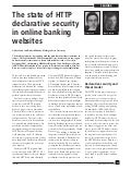 The State of Declarative Security in HTTP Response Headers - Bank Study