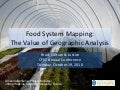Food System Mapping: The Value of Geographic Analysis