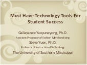 Must Have Technology Tools for Student Success