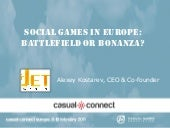 Social Games in Europe: Battlefield...