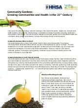 Community Gardens: Growing Communit...