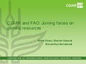 CGIAR and FAO: Joining forces on ge...