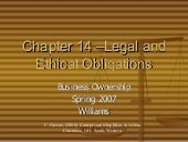 Ch. 14 Legal And Ethical