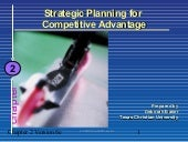 Strategic planing for competitive a...