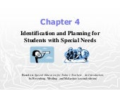 Chapter 4:  Identification and Plan...