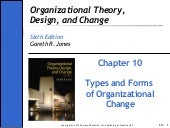 Ch10 - Organisation theory design a...