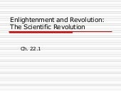Ch 22.1 the scientific revolution