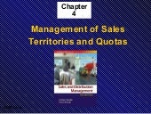 Ch4: Management of Sales  Territori...