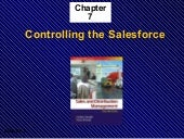 Ch7: Controlling the Salesforce