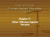Ch 7 Other Crimes Against Persons