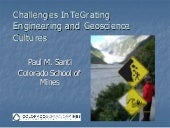 Challenges InTeGrating Engineering and Geoscience Cultures