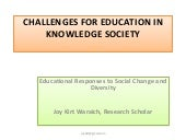 Challenges for education in knowled...