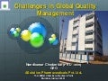 Challenges in global quality management pptx