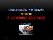 Challenges in medicine e-learning solutions