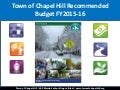 Town of Chapel Hill Budget Update