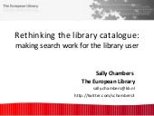 Rethinking the library catalogue: m...