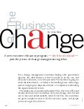 The Business of Change