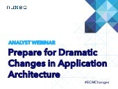 Changes in Application Architecture