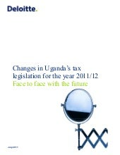 Changes in uganda's tax legislation