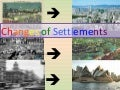 Changes of settlements