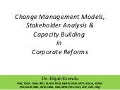 Change Management Models, Stakehold...