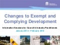 Helping practitioners understand changes to Exempt and Complying Development