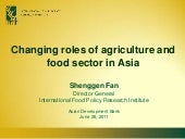 Changing Roles of Agriculture and F...